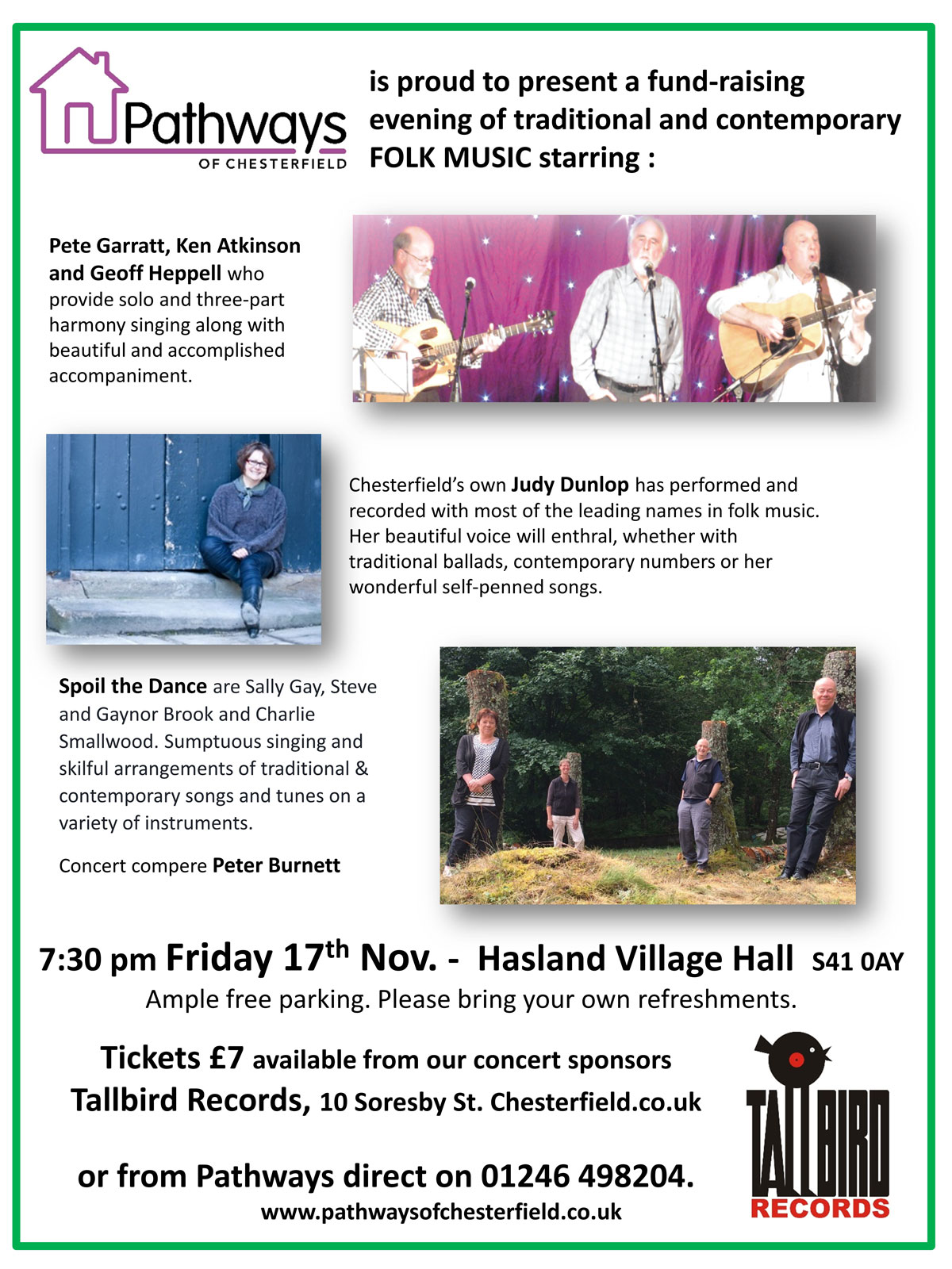 folk music fund raising event